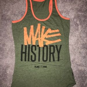 "Flag Nor Fail ""Make History"" women's tank size S"